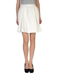 Mother Of Pearl Knee Length Skirts White