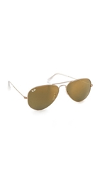 Ray Ban Mirrored Original Aviator Sunglasses Gold Yellow
