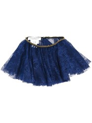 Philosophy Di Lorenzo Serafini Chain Trim Lace Collar Blue