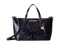 Brahmin Mini Asher Ink Satchel Handbags Navy