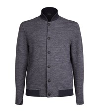 Giorgio Armani Bomber Sweater Male Grey