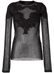 Maurizio Pecoraro Applique Detail Mesh Top Black