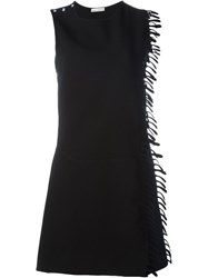 Paco Rabanne Fringe Detail Sleeveless Dress Black