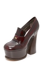 Maison Martin Margiela Loafer Wedges Bordeaux Dark Brown