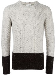 Paolo Pecora Cable Knit Jumper Nude Neutrals