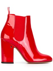 Laurence Dacade 'Mila' Patent Ankle Boots Red