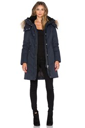 Mackage Kerry Jacket With Asiatic Raccoon Fur And Sheepskin Navy