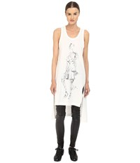 Yohji Yamamoto W Sketch Tank Top Core White Women's Sleeveless