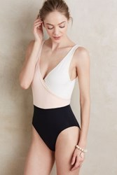 Anthropologie Solid And Striped Ballerina Maillot Pink L Swimwear
