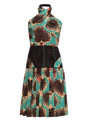 Sophie Theallet Printed Halterneck Silk Dress