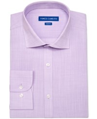 Vince Camuto Men's Slim Fit Slub Dress Shirt Purple