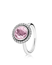Pandora Design Pandora Ring Sterling Silver And Cubic Zirconia Brilliant Legacy Silver Pink