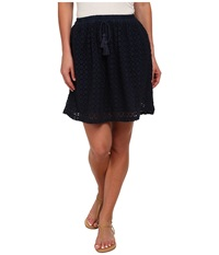 Lucky Brand Eyelet Skirt American Navy Women's Skirt