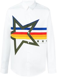 Iceberg Star Print Shirt White