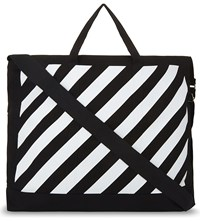 Off White C O Virgil Abloh X Fragment Design Logo Fluo Stripe Tote Black Bril
