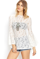 Forever 21 Listless Lace Tunic Cream