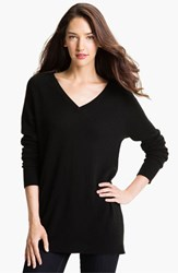 Women's Equipment 'Asher' V Neck Cashmere Sweater Black
