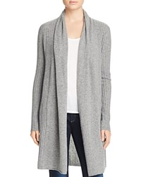 Bloomingdale's C By Ribbed Cashmere Cardigan Slate