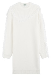 Kenzo Wool Sweater Dress White