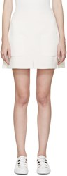 See By Chloe Off White Crepe Pocket Skirt