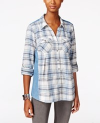 Styleandco. Style Co. Denim Back Plaid Shirt Only At Macy's Lakeview Plaid