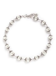 Lulu Frost 'Electra' Pave Glass Pearl Necklace White