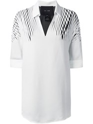 Jay Ahr Cut Out Detail Shirt White