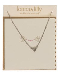 Lonna And Lilly Knot Shaped Sparkle Pendant Necklace Silver