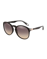Givenchy Oversized Plastic Aviator Sunglasses Black