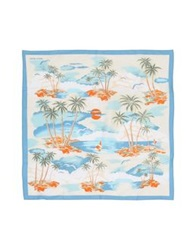 Jacob Cohen Jacob Coh N Square Scarves Pastel Blue