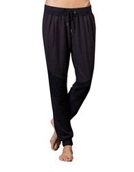 Zobha Wesley Quilted Terry Jogger Pants Black