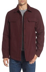 Prana Men's 'Wooley' Shirt Jacket Dark Umber Heather