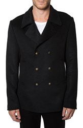 Men's 7 Diamonds 'New York' Deconstructed Double Breasted Peacoat