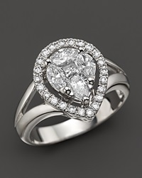 Bloomingdale's Fancy Cut Diamond Ring In 14K White Gold 1.0 Ct. T.W.