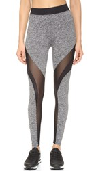 Koral Activewear Frame Leggings Heather Grey Black