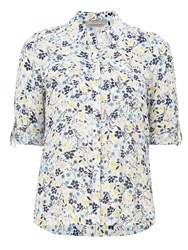 Dorothy Perkins Petite Print Roll Sleeve Shirt Multi Coloured