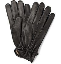 Want Les Essentiels Chopin Cashmere Lined Leather Gloves Black