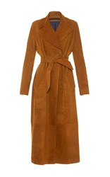 Martin Grant Suede Trench Coat Tan