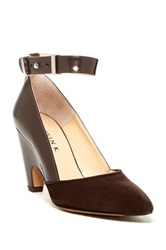 Aquatalia By Marvin K Gatsby Ankle Strap Pump Brown