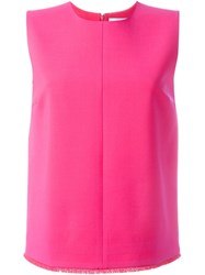 Victoria Beckham Round Neck Tank Top Pink And Purple