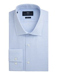 Paul Costelloe Albany Cotton Check Slim Fit Shirt Blue