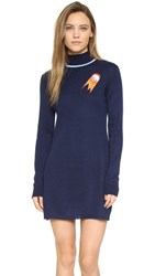 Anna K Turtleneck Sweater Dress Navy