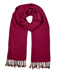 East Reversible Wool Scarf Pink