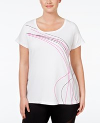 Ideology Plus Size Graphic T Shirt Only At Macy's Bright White