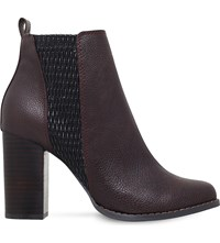 Miss Kg Scorpion Heeled Ankle Boots Wine