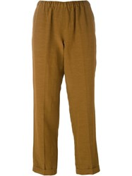 Alberto Biani Elasticated Waistband Trousers Brown