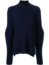 Muveil Ribbed Jumper Blue