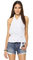 Loup Charmant Conch Halter Wrap Top White