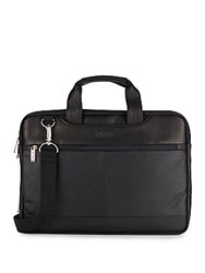 Kenneth Cole Reaction Leather Briefcase Black