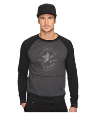 Converse Core Tipped Rib Crew Black Heather Men's Clothing